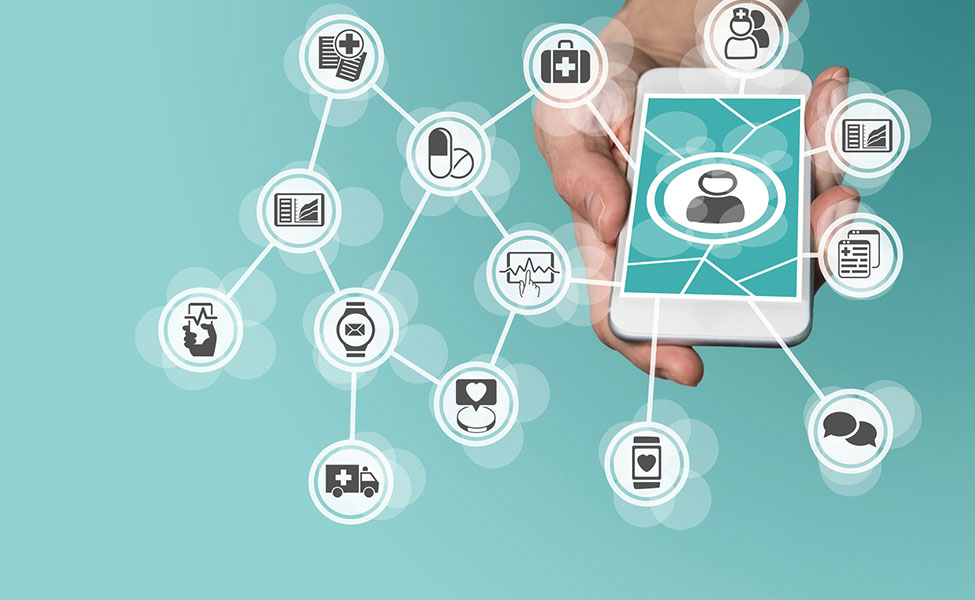 Smartphone avec applications mobiles esanté