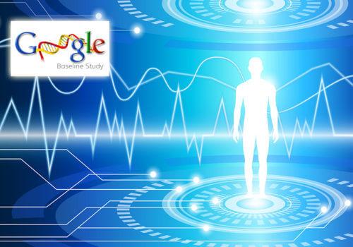 hologramme d'un homme avec le logo Project Baseline