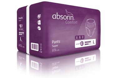 Un emballage Absorin slip