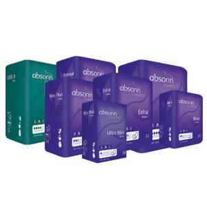 Des produits Absorin pour l'incontinence légère