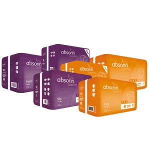 des produits Absorin pour l'incontinence sévère