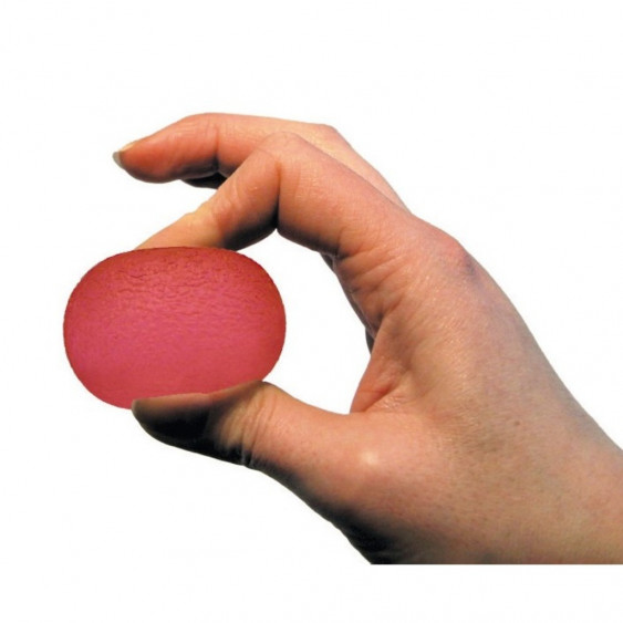 Balle de rééducation rouge souple