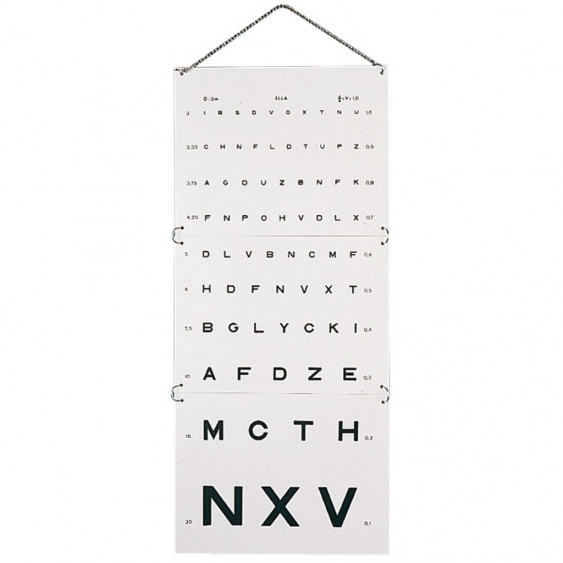ECHELLE OPTOMETRIQUE 3 metres