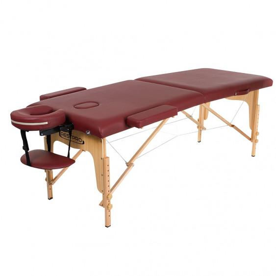 TABLE MASSAGE CLASSIC 2 192X70CM BORDEAU