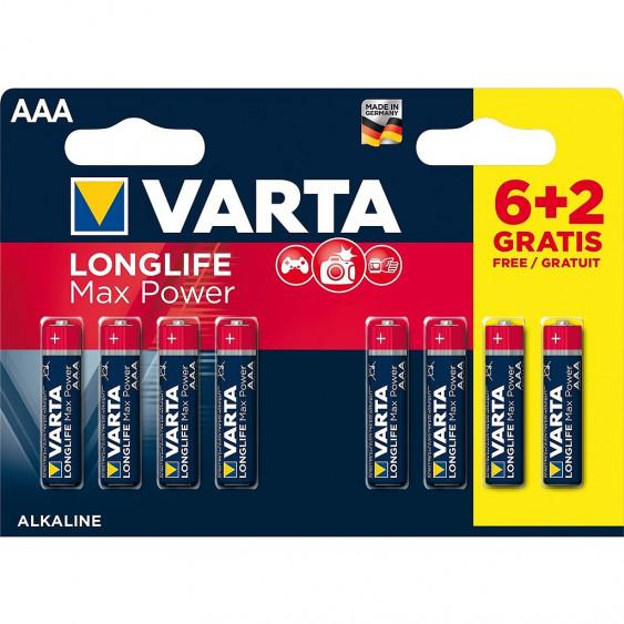 PILES VARTA LONGLIFEMAXPOWER AAA/LR3 6+2