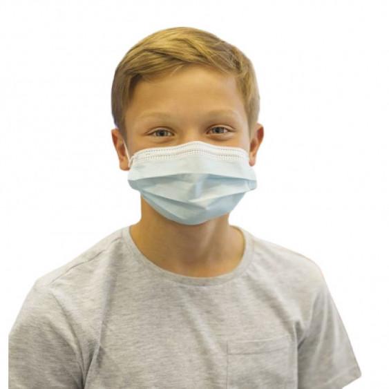 Masque chirurgical à usage unique pour enfant à 3 plis type II (x50)