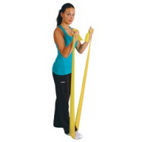 Bandes d'exercice latex<br> - Jaune - 5,50 m