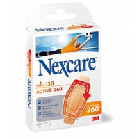 Pansements Nexcare Active strips - Antichoc Lavable 19 x 76 mm