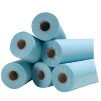 Drap d'examen Bleu Plastifié - 6 rouleaux 40g/m² - 180 formats