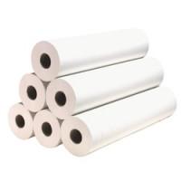 Draps d'examen 12 rouleaux ouatés blancs- 50x38 cm - 2x18g/m²