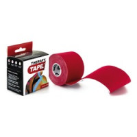 Bandes de taping Therapy Tape 5m x 5cm Couleur Rouge