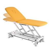 Table de massage Ferrox 2 plans Picasso XL avec cadre de commande et roulettes - couleur baltique