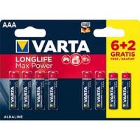 Piles Varta Longlife Maxpower AAA/LR3 6+2
