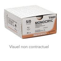 Fils de sutures Monocryl - 5/0 70 cm 13 mm 3/8 cercle