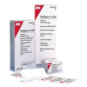 MEDIPORE + PAD 5CM X 7.2CM PACK 50