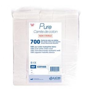 Carrés de coton 5x5 cm - Sachet de 700