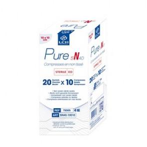 Compresses Non tissées Stériles Pure N30 - 10cmx10cm - LCH - Boite de 200