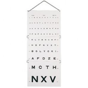 Test Monoyer - Echelles optométriques 3 m / 5 m