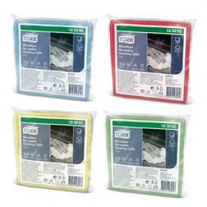 Tork Chiffon de Nettoyage Microfibre réutilisable - 6 lavettes