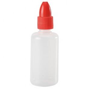 Flacons plastique avec bouchon rouge